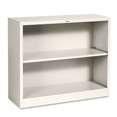 Hon - metal bookcase, 2 shelves, 34-1/2w x 12-5/8d x 29h, putty, sold as 1 ea