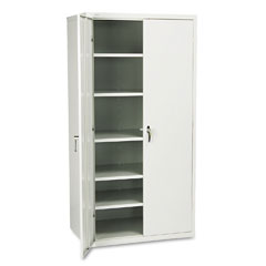 Hon - assembled storage cabinet, 36w x 24 1/4d x 71 3/4h, gray, sold as 1 ea