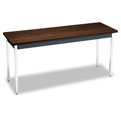 HON UTM2060ZPCHR Utility Table, Rectangular, 60W X 20D X 29H, Columbian Walnut