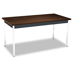 HON UTM3060ZPCHR Utility Table, Rectangular, 60W X 30D X 29H, Columbian Walnut