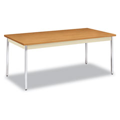 Hon - utility table, rectangular, 72w x 36d x 29h, harvest, sold as 1 ea