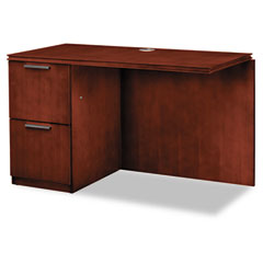 Hon - arrive left return for right pedestal desk, 48w x 24d x 29-1/2h, henna cherry, sold as 1 ea