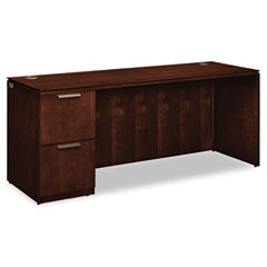 HON VW271LC1Z9FF Arrive Single Pedestal Credenza, Left, 72W X 24D X 29-1/2H, Shaker Cherry