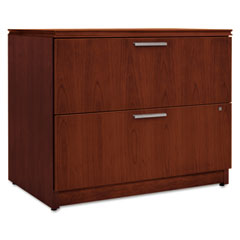 HON VW636XC1JJ Arrive Wood Veneer Two-Drawer Lateral File, 36W X 24D X 29-1/2H, Henna Cherry