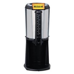 Hormel - thermal beverage dispenser, gravity, 2.5 liter, stainless steel/black, sold as 1 ea