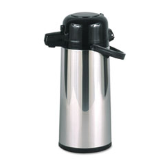 Hormel - commercial grade 2.2 liter airpot, w/push-button pump, stainless steel, sold as 1 ea