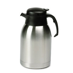 Hormel - stainless steel lined vacuum carafe, 1.9 liter, satin finish/black trim, sold as 1 ea