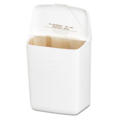 Hospital specialty co. - health gards convertible sanitary napkin receptacle, plastic, 1 gal, white, sold as 1 ea