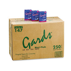 Hospital Specialty 4-147 Gards Maxi Pads, #4, 250 Individually Boxed Napkins/Carton