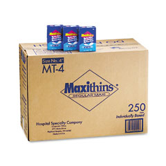 Hospital Specialty MT-4 Maxithins Thin, Full Protection Pads, 250 Individually Boxed Napkins/Carton