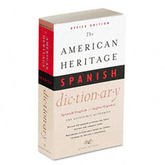Houghton Mifflin H21079 American Heritage Office Spanish Dictionary, Paperback, 640 Pages