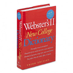 Houghton Mifflin 1020960 Websters Ii New College Dictionary, Hardcover, 1,536 Pages