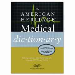 Houghton Mifflin H02074 American Heritage Stedmans Medical Dictionary, Hardcover, 944 Pages