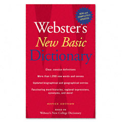 Houghton Mifflin 1019935 Webster'S New Basic Dictionary, Office Edition, Paperback, 896 Pages