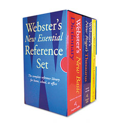 Houghton Mifflin 1020842 Webster'S New Essential Reference Three-Book Desk Set, Paperback
