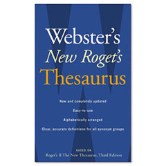 Houghton Mifflin 1020958 Webster'S New Roget'S Thesaurus Office Edition, Paperback, 544 Pages
