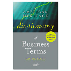Houghton Mifflin H55000 The American Heritage Dictionary Of Business Terms, Hardcover, 608 Pages