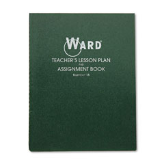 Ward - lesson plan book, wirebound, 8 class periods/day, 11 x 8-1/2, 100 pages, green, sold as 1 ea