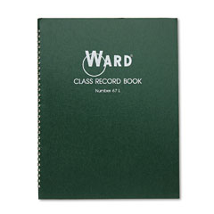 Ward 67L Class Record Book, 38 Students, 6-7 Week Grading, 11 X 8-1/2, Green