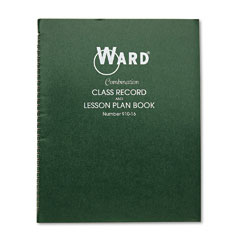 Ward - combination record & plan book, 9-10 weeks, 6 periods/day, 11 x 8-1/2, sold as 1 ea