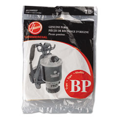 Hoover 401000BP Disposable Paper Liner For Commercial Back Pack Vacuum Cleaner, 7/Pack