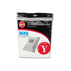 Hoover AH10040 Hepa Y Filtration Bags For Hoover Upright Cleaners, 2 Bags/Pack