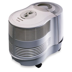 Honeywell - quietcare console humidifier, 9-gallon capacity, tan, 15w x 23-1/8d x 17-1/8h, sold as 1 ea