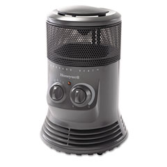 Honeywell - mini-tower heater, 750w - 1500w, gray, sold as 1 ea