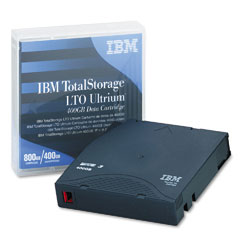 Ibm - ultrium lto-3 cartridge, 400gb, slate blue case, sold as 1 ea