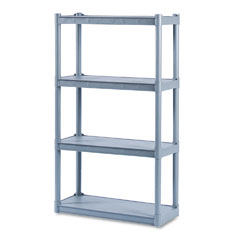Iceberg 20842 Rough N Ready 4 Shelf Open Storage System, Resin, 32W X 13D X 54H, Charcoal