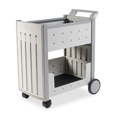 Iceberg 45053 Snapease Mail Cart, Resin, 21W X 38-1/2D X 42H, Platinum