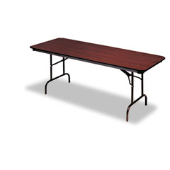 Iceberg - premium wood laminate folding table, rectangular, 60w x 30d x 29h, mahogany, sold as 1 ea