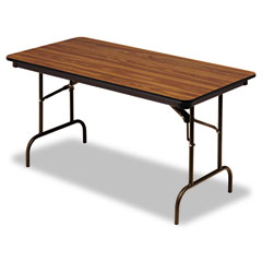 Iceberg 55215 Premium Wood Laminate Folding Table, Rectangular, 60W X 30D X 29H, Oak