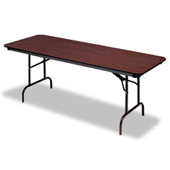Iceberg 55224 Premium Wood Laminate Folding Table, Rectangular, 72W X 30D X 29H, Mahogany