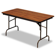 Iceberg 55225 Premium Wood Laminate Folding Table, Rectangular, 72W X 30D X 29H, Oak
