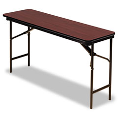 Iceberg 55274 Premium Wood Laminate Folding Table, Rectangular, 60W X 18D X 29H, Mahogany