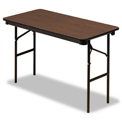 Iceberg 55304 Economy Wood Laminate Folding Table, Rectangular, 48W X 24D, Walnut