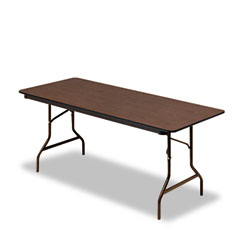 Iceberg 55324 Economy Wood Laminate Folding Table, Rectangular, 72W X 30D, Walnut
