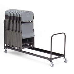 Iceberg 64046 6' Folding Chair Cart, 28-Chair Capacity, Black