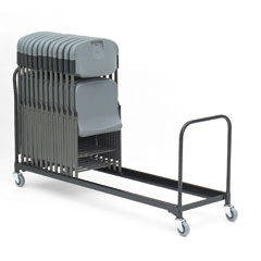 Iceberg 64048 8' Folding Chair Cart, 37-Chair Capacity, Black