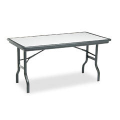 Iceberg 65117 Indestructable Resin Rectangular Folding Table, 60W X 30D X 29H, Granite