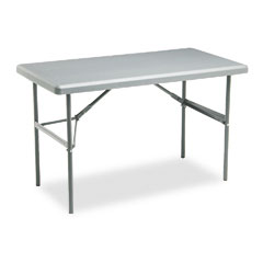 Iceberg - indestructable too 1200 series resin folding table, 48w x 24d x 29h, charcoal, sold as 1 ea