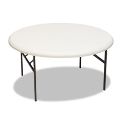Iceberg - indestructable too 1200 series resin folding table, 60 dia x 29h, platinum, sold as 1 ea