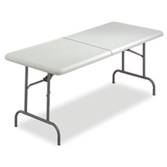 Iceberg - indestructable too bifold resin folding table, 60w x 30d x 29h, platinum, sold as 1 ea