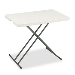 Iceberg - indestructable too 1200 series resin personal folding table, 30w x 20d, platinum, sold as 1 ea