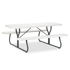 Iceberg - indestructable too 1200 series resin picnic table, 72w x 30d, platinum, sold as 1 ea
