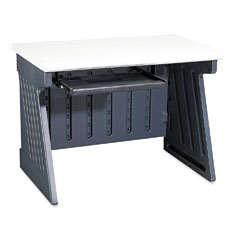"""Iceberg 72002 Snapease 42"""" Computer Desk, Resin, 42W X 24-1/2D. Charcoal/Silver"""