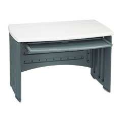 "Iceberg 73002 Snapease 46"" Computer Desk, Resin, 46W X 28D, Charcoal/Silver"