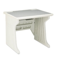 Iceberg 92203 Aspira Modular Workstation Desk, Resin, 34W X 28D X 30H, Platinum