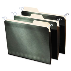 Find it - hanging file folders with innovative top rail, letter, green, 20/pack, sold as 1 pk